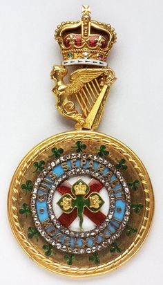 Order of St. Patrick, Grand Master's neck badge, end 19th Century, 70mm x 38mm, West & Son, Dublin, Spada Collection.