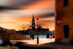 Sunset over Venice, Italy