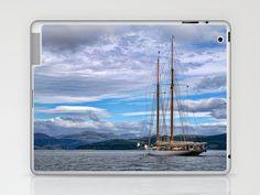 Schooner on the River Clyde Laptop & iPad Skin by Lynn Bolt - $25.00