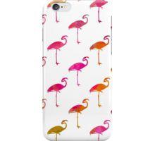 Pink Flamingo Watercolor Flamingos Pattern iPhone Case/Skin
