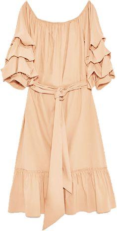 Under $100: Zara Off-the-Shoulder Poplin Dress