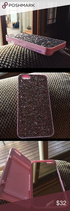 Victoria Secret Mirror Phone Case New without box iPhone 6/6s case!!! Victoria secret iPhone case with card holder and mirror sparkly pink is the color and it is gorgeous. I paid $40 for it, and I don't really use it anymore. But it is basically brand new!!! #pink #victoriasecret #victoriasecretpink #sparkles #love #phonecase #iphone6 #iphone6s #case #cheap #deals Accessories Phone Cases