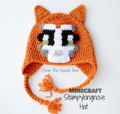 Crochet Minecraft Stampy Hat, Over The Apple Tree