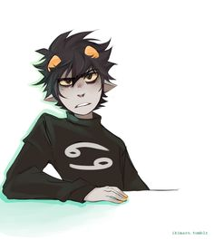 WAIT STOP WHAT YOURE DOING AND LOOK AT THIS ADORKABLE PICTURE OF KARKAT. okay continue