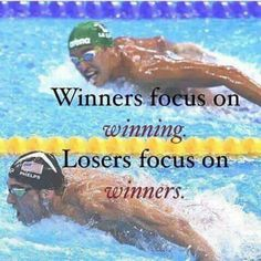 2016 Summer Olympics, Michael Phelps USA wins Gold Medal at age of 31 - while opponent loses precious seconds watching the Winner. Focus on the Prize not the competition. Swimming Memes, Swimming Tips, Swimming Funny, Funny Swimming Quotes, Swimming Pictures, Swimmer Quotes, Swimming Motivation, Sport Motivation, Daily Motivation