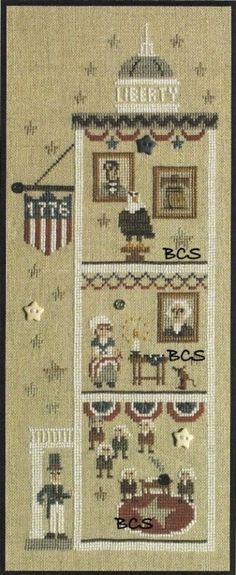 Bent Creek - The Liberty House - Let Freedom Ring - Cross Stitch Chart