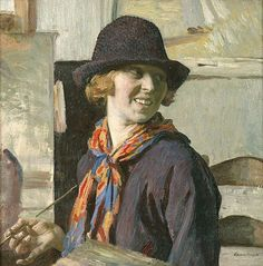 A self-portrait of English impressionist Laura Knight (1877-1970). I love the joy of this.