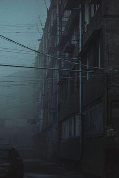 Through the lens of Eliza Malkhasyan. Eliza Malkhasyan is an Armenian photographer and graphic designer who works for agency Backbone Branding. Cinematic Photography, Urban Photography, Film Photography, Street Photography, Urban Aesthetic, Night Aesthetic, Creepy Photos, Cool Photos, Building Aesthetic