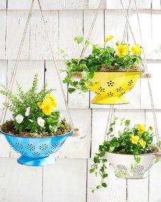 mothers day crafts colander planter