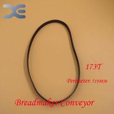 Free Shipping 2Per Lot Kitchen Appliance Parts Breadmaker Conveyor Belts 173T Perimeter 519mm Bread Maker Parts