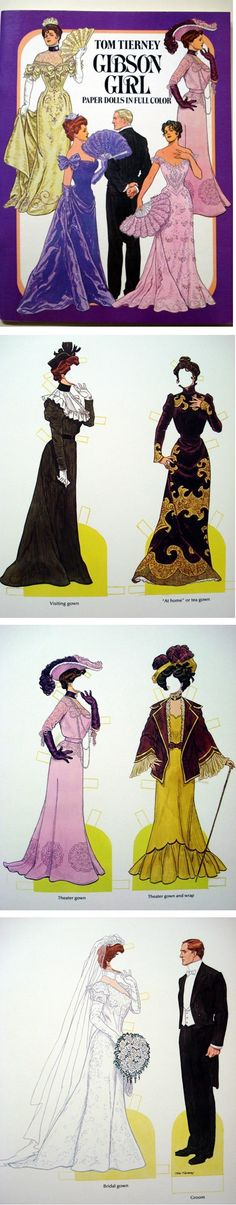 Gibson Girl Paper Dolls by Tom Tierney