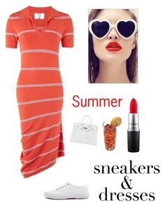 """""""Summer Casual"""" by kotnourka ❤ liked on Polyvore featuring Topshop, Hermès and MAC Cosmetics"""