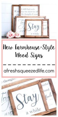 Wood Profits NEW FARMHOUSE STYLE WOOD SIGNS - There is a new set of Farmhouse Style Wood Signs in my shop! These are perfect for adding a farmhouse touch to your living room, or anywhere in your home! Woodworking Store, Woodworking Crafts, Woodworking Plans, Woodworking Quotes, Woodworking Workshop, Intarsia Woodworking, Woodworking Techniques, Farmhouse Signs, Farmhouse Style