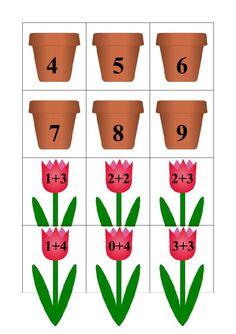 Jarní sčítání - fotoalba ulivatelu - Dáma.cz Kindergarten Math Worksheets, Preschool Curriculum, In Kindergarten, Toddler Learning Activities, Teaching Kids, Kids Learning, Math Classroom, Classroom Activities, Montessori Math