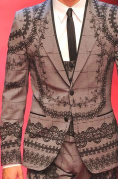 PRINTS, PATTERNS AND DETAILS FROM RECENT MILAN FASHION WEEK (MENSWEAR SPRING/SUMMER 2015) /  Versace et Dolce & Gabbana