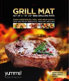"f you'd like to transform your outdoor grill into a handy, non-stick cooking surface, the ""Yumms BBQ Grilling Mats"" will make cooking a breeze by preventing food falling through the cracks…"