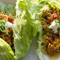 Turkey Taco Lettuce Wraps by Skinny Taste- I am packing these in my lunch for next week. Looks so good!