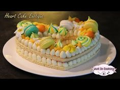 Recette de Heart Cake Exotique Passion Chocolat Blanc Vanille pour mes 500k ! + Concours Vanille - YouTube Number Cakes, Macaron, Crepes, Biscuits, Deserts, Birthday Cake, Cooking, Blog, White Chocolate
