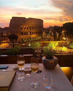 Roma: Colosseum from Palazzo Manfredi terrace ♠ photo by palazzo manfredi on Instagram