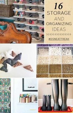 Beautiful storage and home organization ideas.
