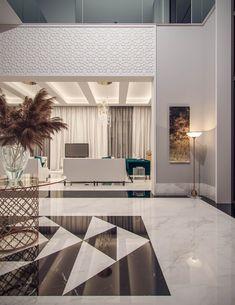 Contemporary Interior Design, Home Interior Design, Interior Decorating, Kitchen Interior, Luxury Home Decor, Luxury Homes, Floor Design, House Design, Modern Villa Design