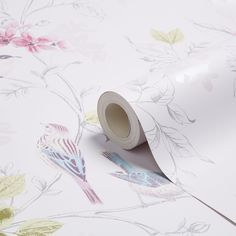 Fine Décor Lottie Mauve Trees with Birds Mica Wallpaper - B&Q for all your home and garden supplies and advice on all the latest DIY trends Kids Bedroom Wallpaper, Diy Wallpaper, Botanical Wallpaper, Metallic Wallpaper, Textured Wallpaper, Chinoiserie, Mauve, Inspirational Wallpapers, Colorful Birds