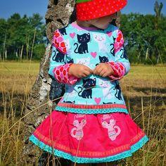 """#fynory : """"Uljana"""" & """"Antonia"""" von #farbenmix  #naehen #stoffwelten #sewing #embroidery #sticken"""