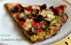 Zucchini cheese crust pizza - gluten free