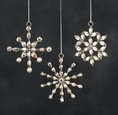 Victorian Glass Snowflake Ornament | RH