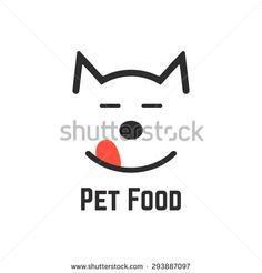 pet food logo with dog icon. concept of veterinary, visual identity, vet, dog fo…