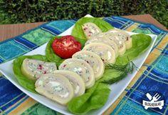 Zöld fűszeres sajttekercs