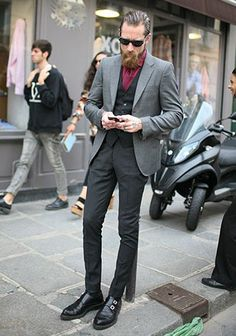 They Are Wearing: Paris Men's Fashion Week Spring 2014 Justin O'shea, Fasion, Suit Jacket, Mens Fashion, Suits, Formal, How To Wear, Jackets, Collection