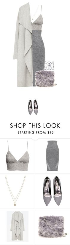 """""""Grey babe !"""" by azzra ❤ liked on Polyvore featuring H&M, LNDR, LC Lauren Conrad, Zara and Dorothy Perkins"""