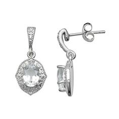 $40 Sterling Silver White Topaz Diamond Accent Drop Earrings Everyday Rings, White Topaz, Belly Button Rings, Wall Lights, Drop Earrings, Sterling Silver, Stone, Diamond, Gifts