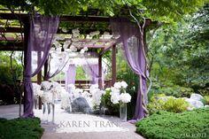 Karen Tran Florals, Pam Scott Photography.  Modern, whimsical purple wedding featured on Ceremony magazine | San Diego Wedding Blog