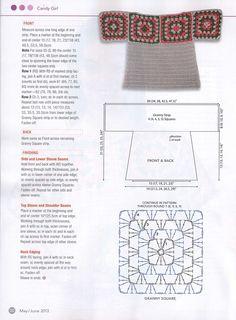 granny square poncho View album on Poncho Au Crochet, Pull Crochet, Crochet Poncho Patterns, Granny Square Crochet Pattern, Crochet Blouse, Crochet Chart, Crochet Granny, Crochet Stitches, Knit Crochet
