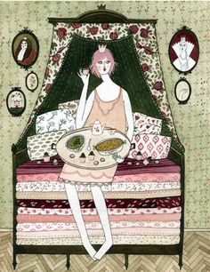 """""""the princess and the pea,"""" commissioned by random house UK for the book """"fairytale food."""""""