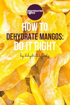 Mangos are irresistible. Whether you serve them blended fresh sliced canned or dehydrated they will find their way to satisfy you. On this post we will focus on how to dehydrate mangos and why you would want to try them dried. Mango Fruit, Dehydrated Apples, Dehydrated Food, Mango Recipes, Fruit Recipes, Juice Recipes, Detox Recipes, Salad Recipes, Breakfast