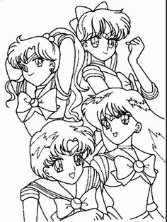 Inner Sailor Senshi Coloring Page