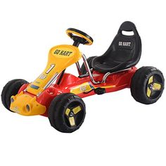 Kids' Pedal Cars - Go Kart Kids Ride On Car Pedal Powered Car 4 Wheel Racer Toy Stealth Outdoor New  Red >>> Click image for more details.