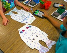 Cassie Stephens: In the Art Room: First Grade Koinobori for Children's Day! Sharpies, watercolor, then spritz with water