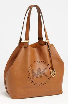 f9f71eee09 MICHAEL Michael Kors  Perforated MK - Large  Leather Tote