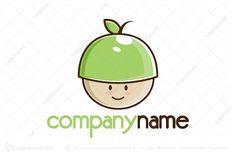 Logo for sale: Applehead Cute Cartoon Logo