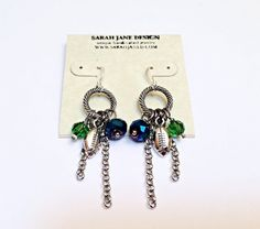 Seahawk earrings, sterling silver wires, football earrings, 12, 12th man, 12th woman, seattle seahawks, seahawks jewelry, seahawks earrings