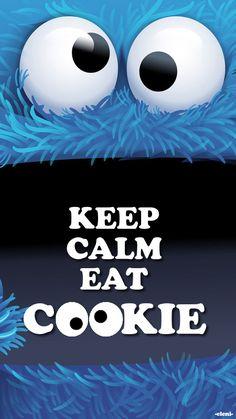 KEEP CALM EAT COOKIE - created by eleni