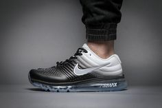size 40 892a4 ed6cc Chritmas Sales Nike Air Max 2017 Gradual Change Black White Tick Running Women  Men Shoes,Get More Discount Now!