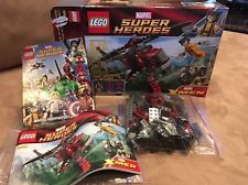 LEGO MARVEL SUPERHEROES #6866 WOLVERINE DEADPOOL Chopper Only W/ Box NO Figs Lego Deadpool, Lego Marvel, Deadpool Videos, G Man, Figs, Wolverine, Chopper, Box, Snare Drum