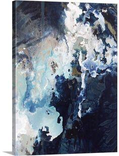 Kari Taylor Solid-Faced Canvas Print Wall Art Print entitled Deep Blue Pool Crop, None Abstract Images, Blue Abstract, Abstract Wall Art, Canvas Wall Art, Big Canvas, Blue Painting, Painting Prints, Wall Art Prints, Canvas Prints