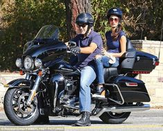 Me and my boo on the hog:This comes after George was seen taking his lady love out for a ride in Los Angeles on Friday afternoon on the back of his black Harley-Davidson motorcycle #harleydavidsonstreet750exhaust