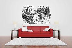 Wall Vinyl Sticker Decals Mural Room Design Pattern Fish Tail Octopus Ocean Sea bo664